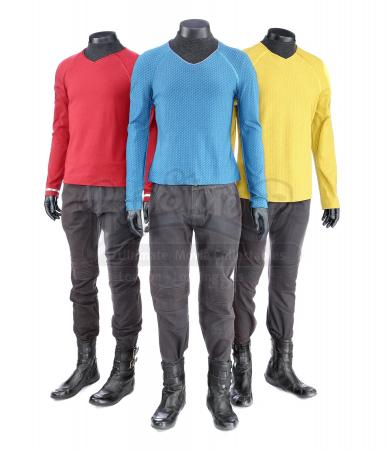 STAR TREK (2009) and STAR TREK INTO DARKNESS (2013) - Set of Three Men's Enterprise Uniforms