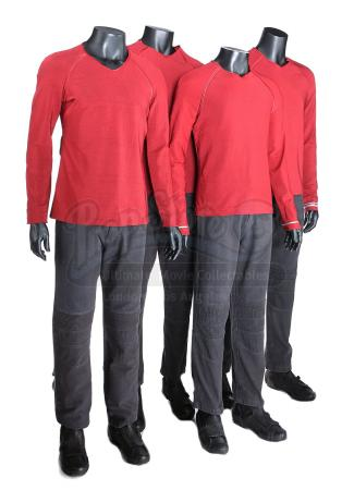 STAR TREK (2009) and STAR TREK INTO DARKNESS (2013) - Set of Four Men's Enterprise Operations Uniforms