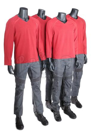 STAR TREK INTO DARKNESS (2013) - Set of Four Men's Enterprise Operations Uniforms
