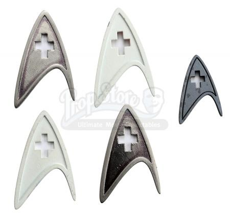STAR TREK (2009) - Set of Prototype Starfleet Medical Division Insignias