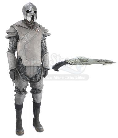 STAR TREK INTO DARKNESS (2013) - Klingon Guard Uniform with Helmet, Full-Length Disruptor and Disruptor