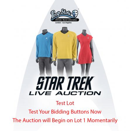 STAR TREK LIVE AUCTION - Test Lot - Test Your Bidding Button
