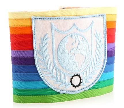 BUCK ROGERS IN THE 25TH CENTURY (1979 - 1981) - Earth Defense Directorate Globe Logo Rainbow Armband