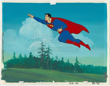 CHALLENGE OF THE SUPERFRIENDS - Superman Animation Cel