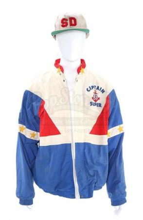 SUPER DAVE (1987 - 1999) - Super Dave Osborne's (Bob Einstein) 'Captain Super' Windbreaker and 'Sd' Cap