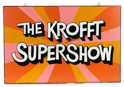 THE KROFFT SUPERSHOW (1976 - 1978) - Hand-Painted 'The Krofft Supershow' Production Office Sign