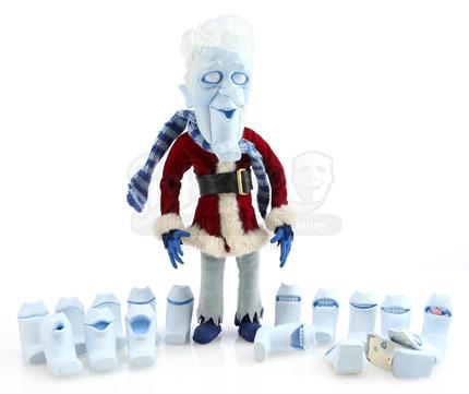A MISER BROTHERS' CHRISTMAS (2008) - Snow Miser's Stop-Motion Puppet With Lip Kit Of Mouths