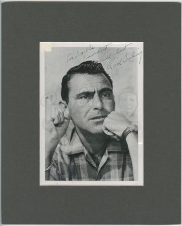 THE TWILIGHT ZONE (1959 - 1964) - Rod Serling Autographed Photograph