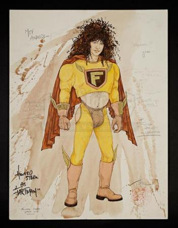 1992 MTV VIDEO MUSIC AWARDS - Fartman Hand-Drawn Costume Sketch From MTV Awards