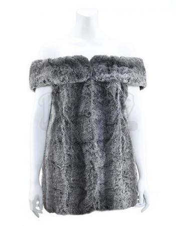 STAR TREK: THE ORIGINAL SERIES (1966 - 1969) - Lenore Karidian's (Barbara Anderson) Gray Faux Fur Mini-Dress and Faux Fur Vest